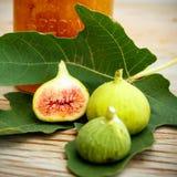 De het uitstekende canvas en affiche van het fig.fruit Stock Afbeeldingen