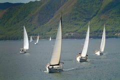 De het varende Zeil van de regatta & Trofee van de Pret Royalty-vrije Stock Afbeeldingen