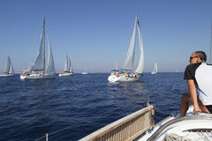 De het varende Zeil van de regatta & Trofee van de Pret in Turkije Stock Afbeelding