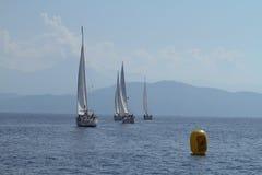 De het varende Zeil van de regatta & Trofee van de Pret in Turkije Royalty-vrije Stock Foto's