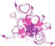 De het verwarren harten Stock Illustratie