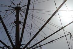 De het vliegen machinerit bij genoegenstrand Blackpool Stock Afbeelding