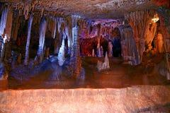 --De het vreemde gordijn en pijlers van de stalactietensteen royalty-vrije stock foto