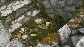 De het Waterlente van steenbuilded stock footage