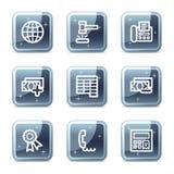 De het Webpictogrammen van financiën plaatsen 2 Stock Foto's