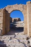 De het westeningang aan Masada Stock Foto