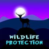 De het wildbescherming toont Dierlijk Behoud 3d Illustratie royalty-vrije illustratie