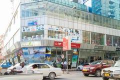 De het winkelen gebieden van Dar Es Salaam Van de binnenstad Stock Foto's
