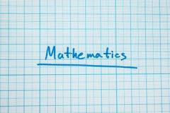De het woord 'wiskunde is close-up vector illustratie