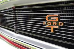 De het zeldzame Kenteken en Grill van Ford Falcon GT Stock Afbeeldingen
