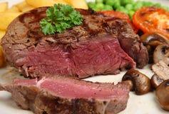 De het zeldzame Lapje vlees & Spaanders van de Filet Stock Foto's