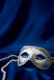 De het zilveren masker en parel van Carnaval Stock Afbeelding