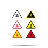 De hete brand van de pictogram vastgestelde voorzichtigheid - vectorillustratie stock illustratie