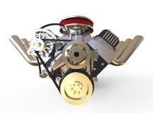 De hete 3D staafv8 Motor geeft terug Royalty-vrije Stock Afbeelding