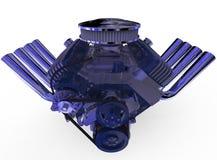 De hete 3D staafv8 Motor geeft terug Royalty-vrije Stock Foto's