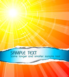 De hete de zomerzon Stock Foto
