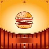 De Hete Hamburger van het snelle Voedsel Stock Foto