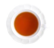 De hete hoogste die mening van de Graaf grijze thee op witte achtergrond wordt geïsoleerd, clippin royalty-vrije stock foto