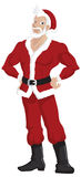 De hete Knappe Kerstman Royalty-vrije Stock Foto's