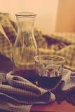 De hete koffie van de americanodruppel Royalty-vrije Stock Afbeeldingen