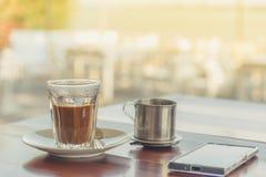 de hete koffie van Vietnam Stock Fotografie