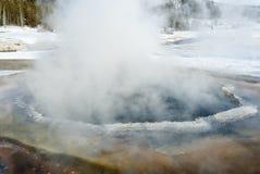De hete Lente, de Winter, Yellowstone NP stock foto