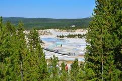 De hete lente in Yellowstone, Wyoming Royalty-vrije Stock Afbeelding