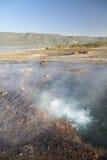De hete lentes bij Meer Bogoria in Kenia. royalty-vrije stock afbeelding