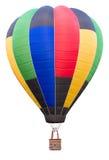 De hete luchtballon isoleert op witte achtergrond met het knippen van weg royalty-vrije stock fotografie