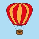 De hete luchtballon photgrphed in Bealton, toont de Vliegende Lucht van het Circus VA Illustratie Royalty-vrije Stock Fotografie