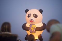 De hete luchtballon toont in Harod-de Lente Royalty-vrije Stock Fotografie
