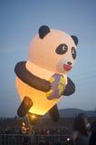 De hete luchtballon toont in Harod-de Lente Stock Afbeelding
