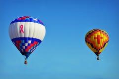 De Hete Luchtballon van borstkanker Royalty-vrije Stock Afbeelding