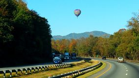 De hete luchtballon van dalingstennessee Royalty-vrije Stock Fotografie