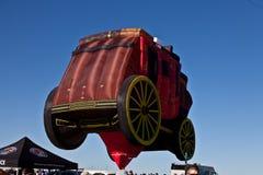 De hete luchtballons van Wells Fargo Stock Fotografie