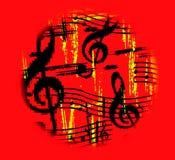 De hete Muziek gaat rond Stock Foto
