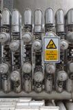 De hete oppervlakte van Beware stock afbeelding