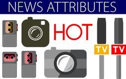 De hete pictogrammen van het nieuws nuttige vlakke ontwerp Stock Foto's