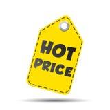 De hete prijs hangt markering Vector illustratie vector illustratie