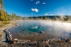 De hete thermische lente in Yellowstone Stock Foto