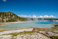 De hete thermische lente in Yellowstone Royalty-vrije Stock Foto's