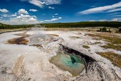 De hete thermische lente in Yellowstone Stock Fotografie