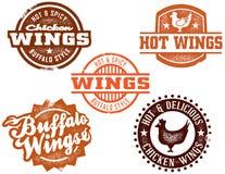 De hete Vleugel van de Kip van Buffels Royalty-vrije Stock Fotografie