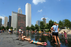 De hete zomer in Chicago Stock Foto