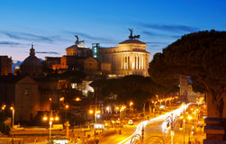 De heuvel Capitoline in Rome Royalty-vrije Stock Fotografie
