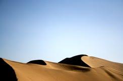 De heuvel en het duin van het zand Royalty-vrije Stock Foto's