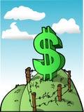 De Heuvel van de dollar Royalty-vrije Stock Foto's