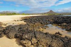 De Heuvel van de draak, het Eiland van Cruz van de Kerstman, het Park van de Galapagos stock afbeeldingen