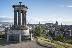 De Heuvel van Edinburgh Calton stock afbeelding