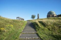De Heuvel van Edinburgh Calton stock foto